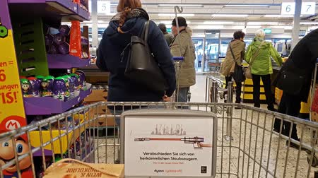 Krefeld  Germany - December 14 2018 : People shopping at the metro cash and carry market