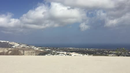 УВР : Delayed photography of panoramic view of Oia and Fira