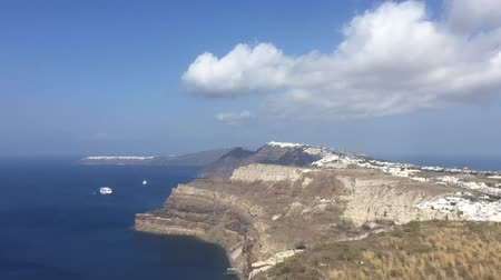 řek : Delayed photography of panoramic view of Oia and Fira