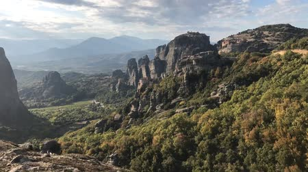 Sunset over Meteora in the Pindos Mountains, Greece