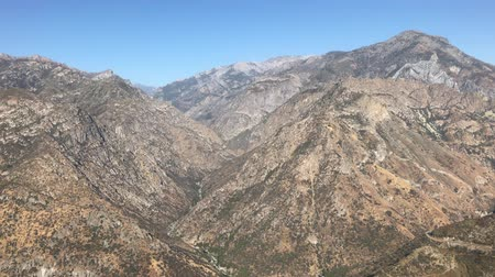 Wilderness landscape views at Kings Canyon and Sequoia National Park, California in the United States Stock mozgókép