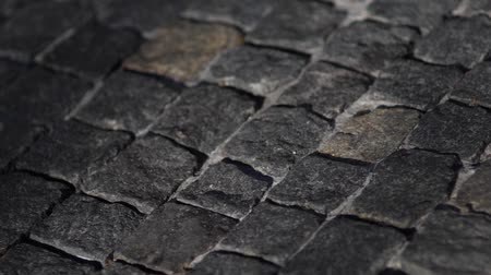 paving : Floating over cobblestone - 4K Video Stock Footage