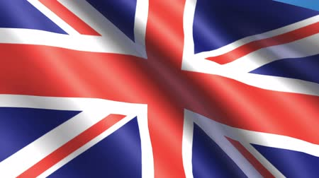 belfast : Looping United Kingdom flag animation with sky background.