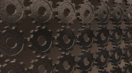 perpetual motion : Seamless looping gears morphing from one type into another and back.