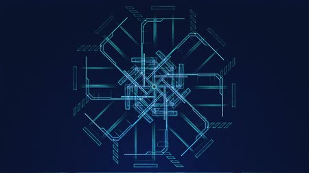 blueprint : Blueprint Looping Technical Abstract Array Stock Footage