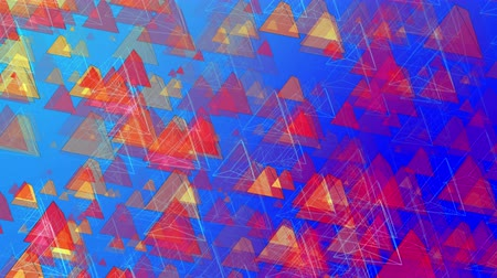 írisz : Abstract Animated Pyramids - 4K Resolution Ultra HD Stock mozgókép