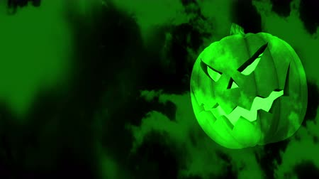 dynia : Green Spooky Halloween Pumpkin - 4K Resolution Ultra HD
