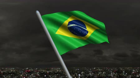 minas gerais : Brazilian Flag Animation – 4K Resolution Ultra HD Stock Footage