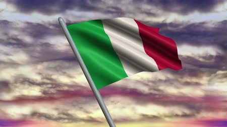 neapol : Italian Flag Animation  – 4K Resolution Ultra HD