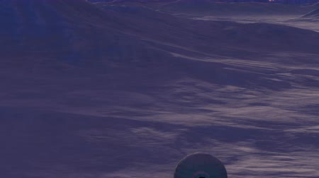 igloo : Animated view of arctic ice field with igloo