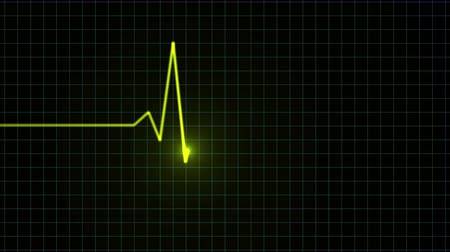 pulso : Seamless looping heart monitor animation Vídeos