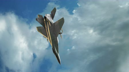 jato : Fighter jet animation flying through cloudy sky.