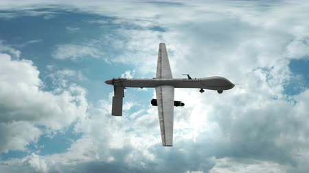 lutador : Aerial drone animation flying through cloudy sky. Stock Footage