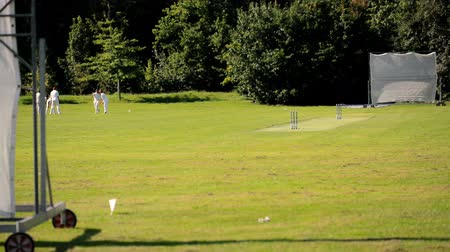 wicket : cricket practise  Stock Footage