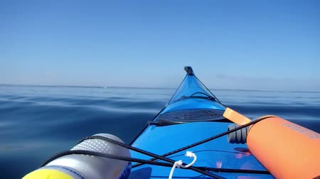 arquipélago : Swimming on kayak Stock Footage