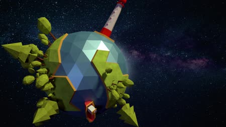 arquipélago : Low poly planet background