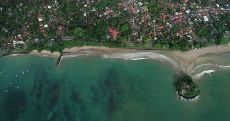 Aerial view.Drone aerial footage of fishermen village landscape