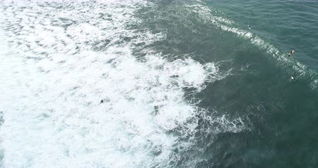 шри : Aerial view. Aerial drone footage of ocean waves in the morning