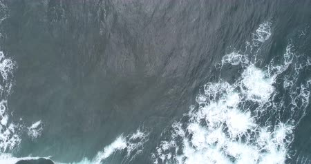 Aerial view. Aerial drone footage of ocean waves in the morning