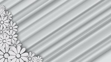 zaproszenie : wedding floral background with place for text - loopable Wideo