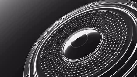 głośniki : vj musical motion footage -abstract speakers. 3D render