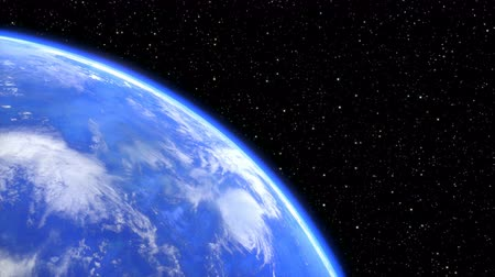 rotating planet earth in space closeup. seamless loop - 3D render Стоковые видеозаписи