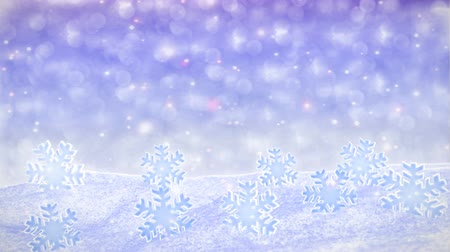 White Snowfalling Background Loop - winter theme