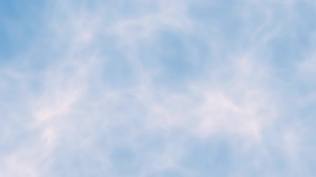 Background of cirrus clouds over blue sky. Background of cirrus clouds over blue sky animated in lateral movement while the image increases.
