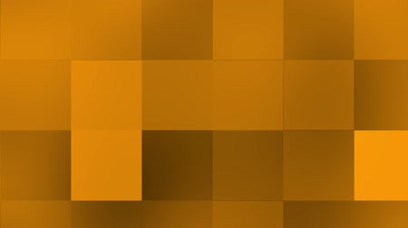 Orange color moving grid background. Grid background in orange shades of animated squares with gentle rising to the right and horizontal direction that focus and blur.
