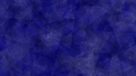 Abstract background of moving triangles dark blue color. Abstract animation background of triangles that move, focus and blur in dark blue tones. Made in After Effects.