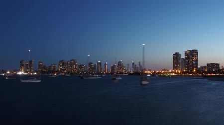 mirage : Sunset Timelapse of yachts on the Broadwater, Gold Coast, Australia Stock Footage