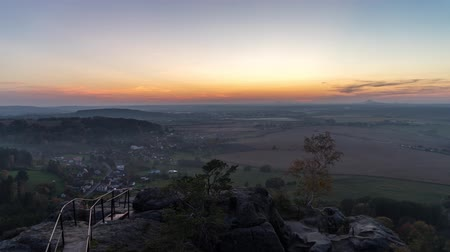 skala : Sunset Timelapse over Bohemian Paradise, Czech Republic.