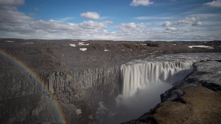 Timelapse of Dettifoss waterfall, Iceland Stock Footage
