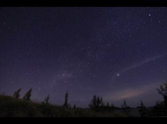 polar circle : milky way timelapse