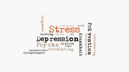 stres : animated stress wordcloud Wideo