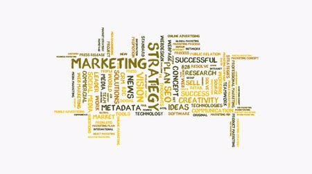 seo : animated marketing strategy word cloud