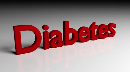 диабет : Dissolve animation of word DIABETES in red