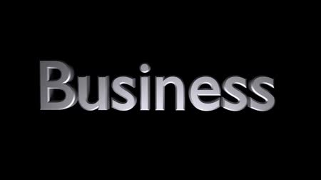 Business coaching animation with streaking text in gray Stock mozgókép