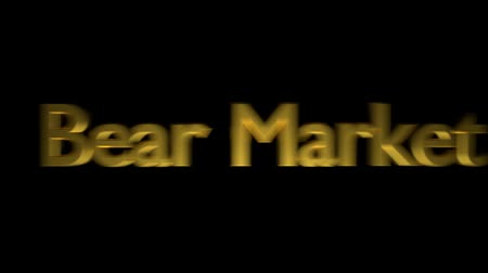 barometr : Bear market coaching animation with streaking text in gold letters