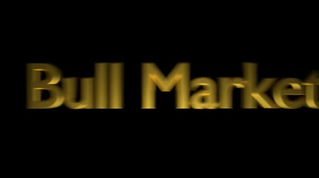 barometr : Bull market coaching animation with streaking text in gold letters