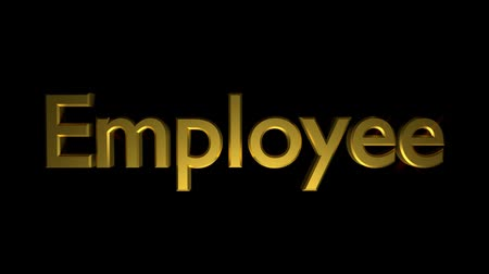 Employee coaching animation with streaking text in gold
