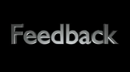 Feedback coaching animation with streaking text in gray