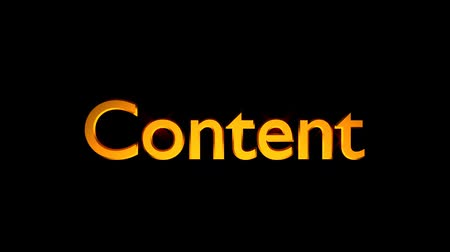 Content marketing animation with streaking text in orange