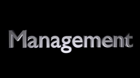 Management Coaching animation with text and streaking blur motion Stock mozgókép