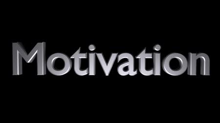 Motivation Coaching animation with streaking text in gray Stock mozgókép