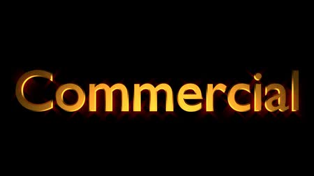 Commercial marketing animation with streaking text and motion blur