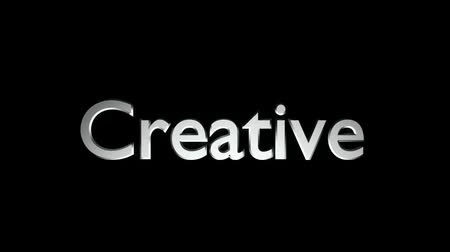 Creative Marketing animation with text and motion blur streaking