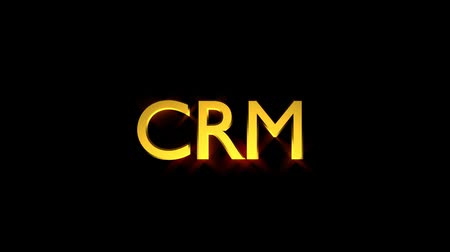 CRM Marketing animation with text and motion blur streaking