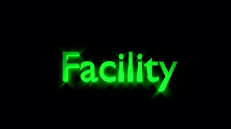 streaking : Facility Management animation with streaking text and motion blur