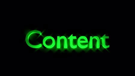 Content Management animation with streaking text and motion blur